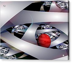 Labyrinth Of The Minotaur. 2013 80/60 Cm.  Acrylic Print by Tautvydas Davainis