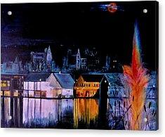 Lac  Brome   Nightscape Acrylic Print by Rick Todaro