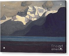 Lac Leman And Les Dents-du-midi Acrylic Print by Felix Edouard Vallotton