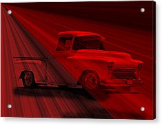 Lace Curtains 1956 Chevy Pick Up Acrylic Print by Dave Koontz