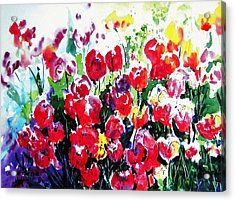 Acrylic Print featuring the painting Laconner Tulips by Marti Green