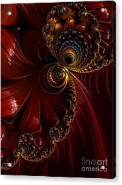 Lacquered  Acrylic Print by Heidi Smith
