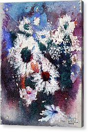 Acrylic Print featuring the painting Lacy Petals by Joan Hartenstein