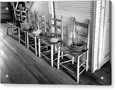 Ladder Back Chairs And Baskets Acrylic Print by Lynn Palmer