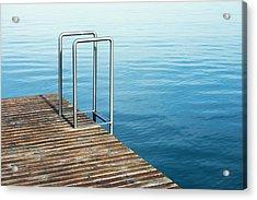 Ladder Acrylic Print by Chevy Fleet