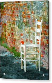 Ladder Back Chair Acrylic Print by Brenda Bryant