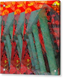 Ladders Acrylic Print by Kelly McManus