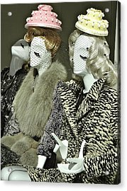Ladies A La Mode Acrylic Print by Ira Shander