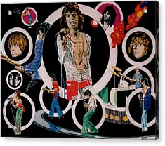 Ladies And Gentlemen -the Rolling Stones Acrylic Print by Sean Connolly