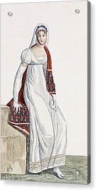 Ladies Day Dress, 1811 Acrylic Print