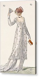 Ladies Evening Dress, Fashion Plate Acrylic Print