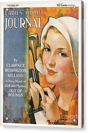 Ladies Home Journal 1930s Usa Golf Acrylic Print by The Advertising Archives