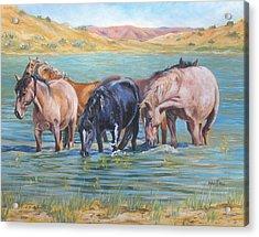 Ladies In Wading Acrylic Print