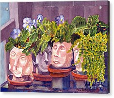 Acrylic Print featuring the painting Ladies Of The Garden by Sandy Linden