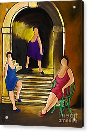 Ladies Of The Night Acrylic Print by William Cain