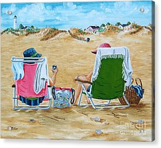 Ladies On The Beach Acrylic Print