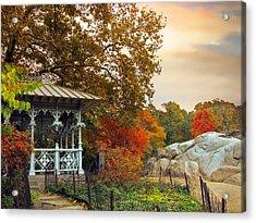 Ladies Pavilion In Autumn Acrylic Print