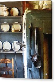 Ladles And Spatula In Kitchen Acrylic Print by Susan Savad