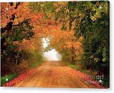 Lady Autumn Acrylic Print
