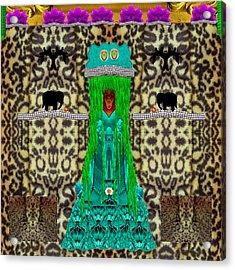 Lady Bear In The Jungle Acrylic Print