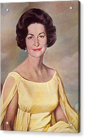 Lady Bird Johnson, First Lady Acrylic Print by Science Source