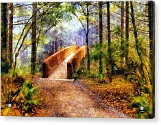 Lady Bird Johnson Grove Bridge Acrylic Print