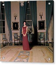 Lady Bird Johnson In The White House Acrylic Print