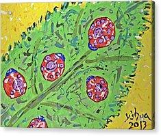Lady Bug Shenanigans Acrylic Print by Yshua The Painter