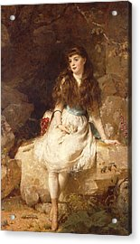 Lady Edith Amelia Ward Daughter Of The First Earl Of Dudley Acrylic Print by George Elgar Hicks