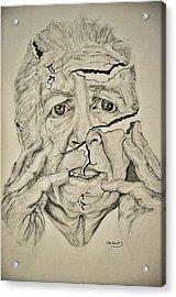 Lady Falling Apart Acrylic Print by Glenn Calloway