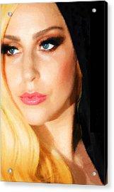 Lady Gaga Fashion 2 Acrylic Print by Tony Rubino