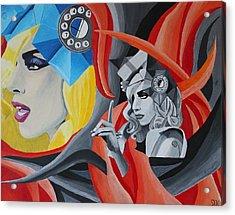 Lady Gaga Acrylic Print by Jennifer Hayes