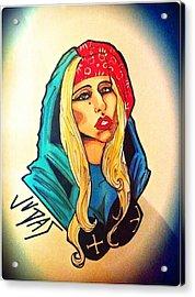 Lady Gaga Judas Acrylic Print by Matthew Skingsley