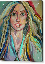 Lady Gaga Acrylic Print by Julie Lee