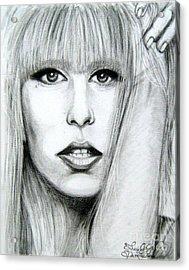 Lady Gaga Acrylic Print by Patrice Torrillo