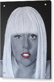 Lady Gaga 'poker Face' Acrylic Print by David Dunne