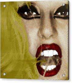 Lady Gaga Acrylic Print by Tony Rubino
