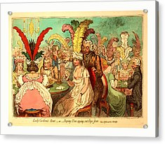 Lady Godinas Rout Or Peeping Tom Spying Out Pope Joan Acrylic Print by English School