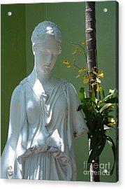 Lady In Garden Acrylic Print