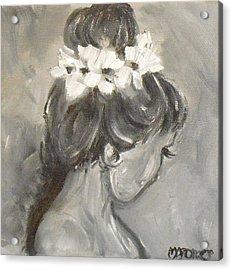 Lady In Grey Acrylic Print