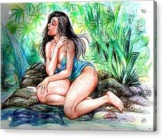 Lady In Lake 2 Acrylic Print by Manuel Cadag
