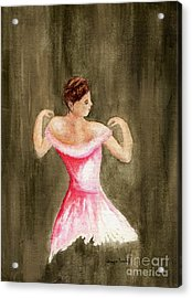 Acrylic Print featuring the painting Lady In Pink by Tamyra Crossley