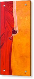 Lady In Red Acrylic Print by Debi Starr