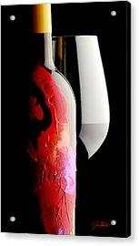 Lady In Red Acrylic Print by Jon Neidert