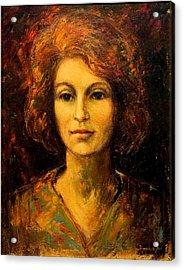 Lady In Red Acrylic Print by    Michaelalonzo   Kominsky