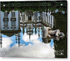 Lady In The Pond Acrylic Print by Arlene Carmel