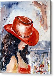 The Red Hat Acrylic Print