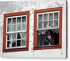 Lady In The Window Acrylic Print by Dave Dos Santos