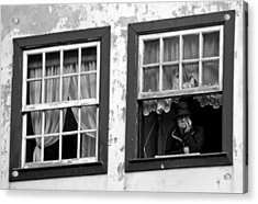 Lady In The Window II Acrylic Print by Dave Dos Santos