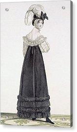 Lady In Velvet Morning Dress Acrylic Print